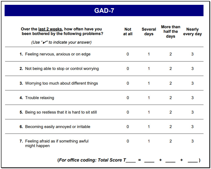 Made to measure: GAD-7 - Therapy Meets Numbers